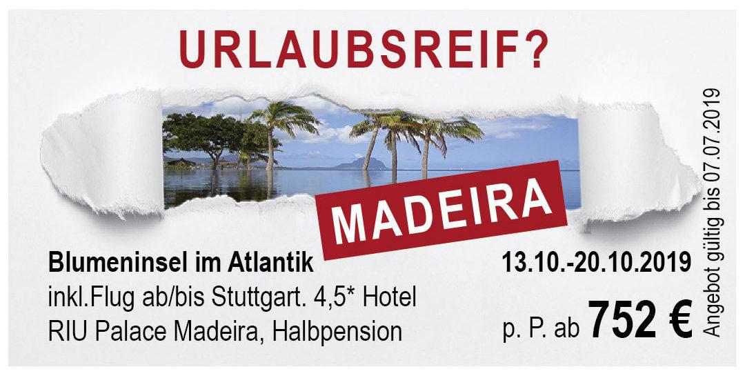 7 Tage Madeira: Exklusives Angebot