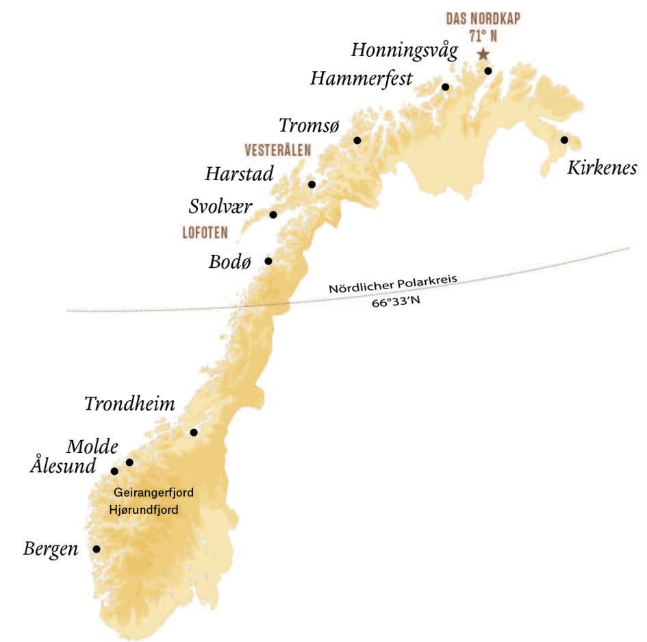 Map Norwegen
