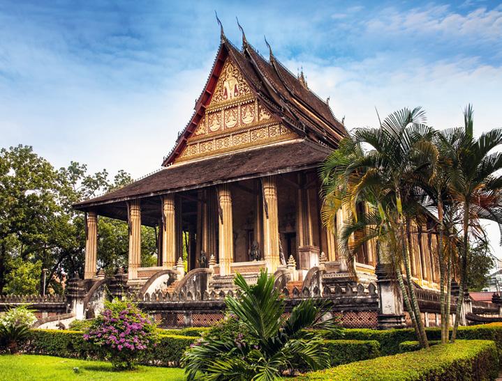 Ho Phra Keo-Tempel in Vientiane Flusskreuzfahrt