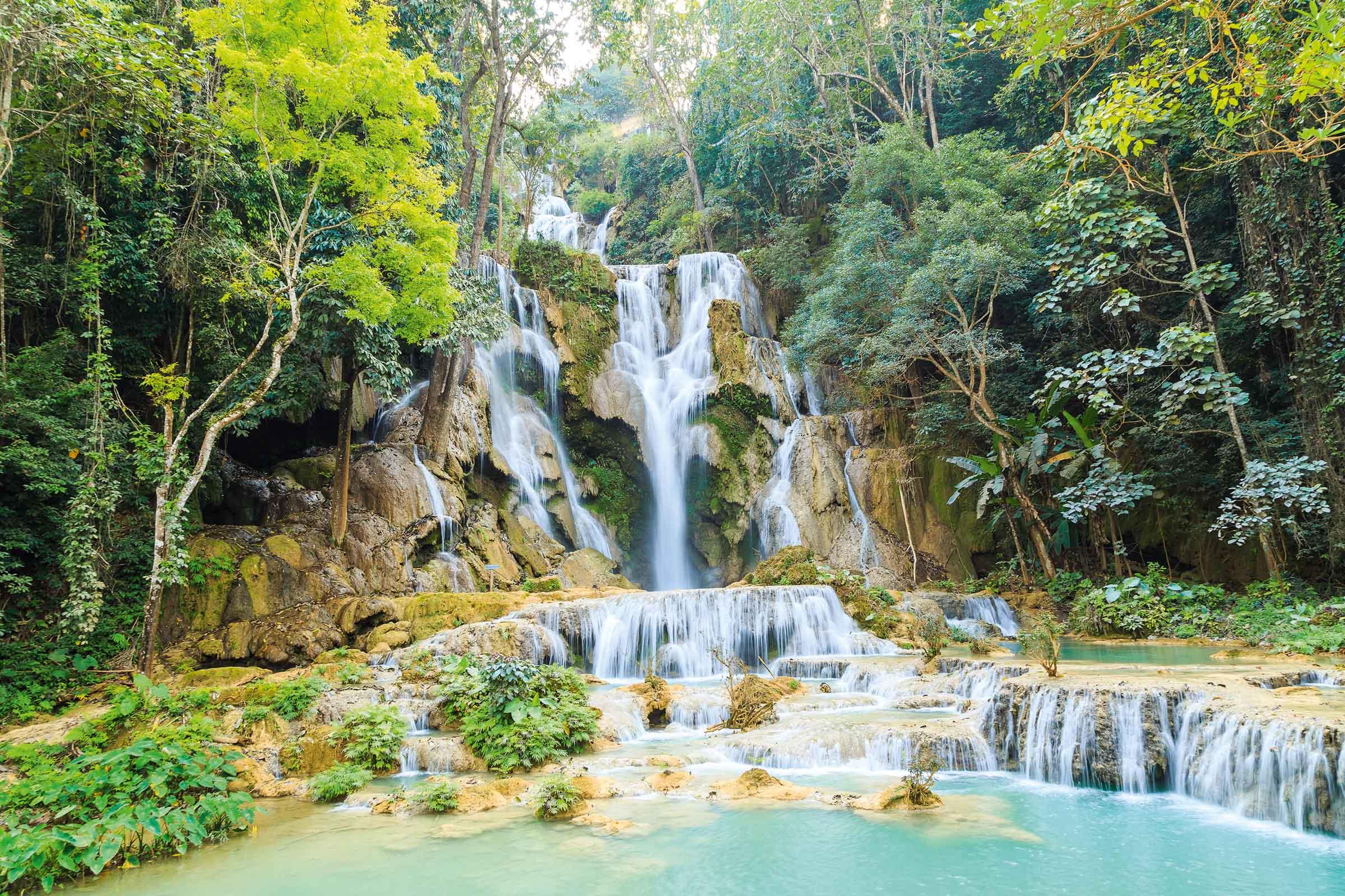 Kuang-Si-Wasserfälle